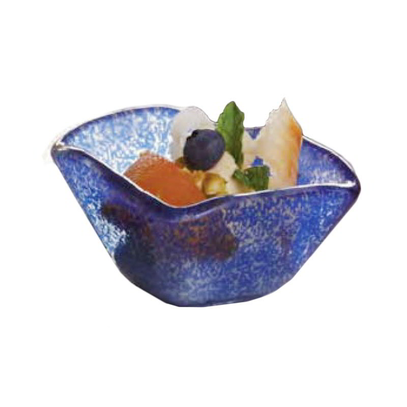 American Metalcraft ORSSBL 2-oz Square Sauce Cup, Glass, Blue