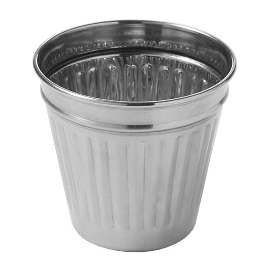 American Metalcraft OSCAR 14-oz Mini Replica Trash Can Server - Stainless