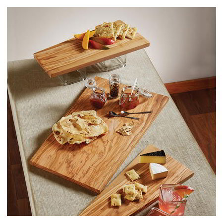 "American Metalcraft OWB1810 Rectangular Serving Board - 18x10"" Olive Wood"