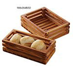 "American Metalcraft OWBB2 Rectangular Bread Crate, 8"" x 6"", Olive Wood"