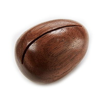 "American Metalcraft OWCH 1-1/2"" Oval Wood Card Holder - Walnut-Finish"