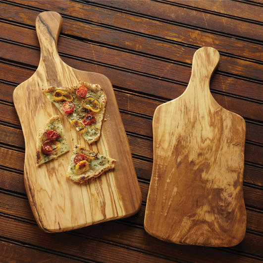 """American Metalcraft OWP157 Serving Board w/ Handle, 15.5x7"""", Olive Wood"""