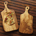 """American Metalcraft OWP178 Serving Board w/ Handle, 17x9"""", Olive Wood"""