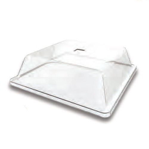 "American Metalcraft P2811SL 11.5"" Square Lid for C281S Food Pan, Acrylic"
