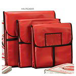 "American Metalcraft PB2400 Pizza Delivery Bag, 24"" X 24 in, Holds Two 22"" Boxes, Red Vinyl"