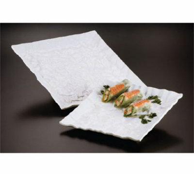 American Metalcraft POR12 Crumple Platter, 12-1/2 in, Square, Porcelain