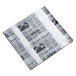 American Metalcraft PPRN2121 Flat Wax Paper, 12x12-in, Newsprint