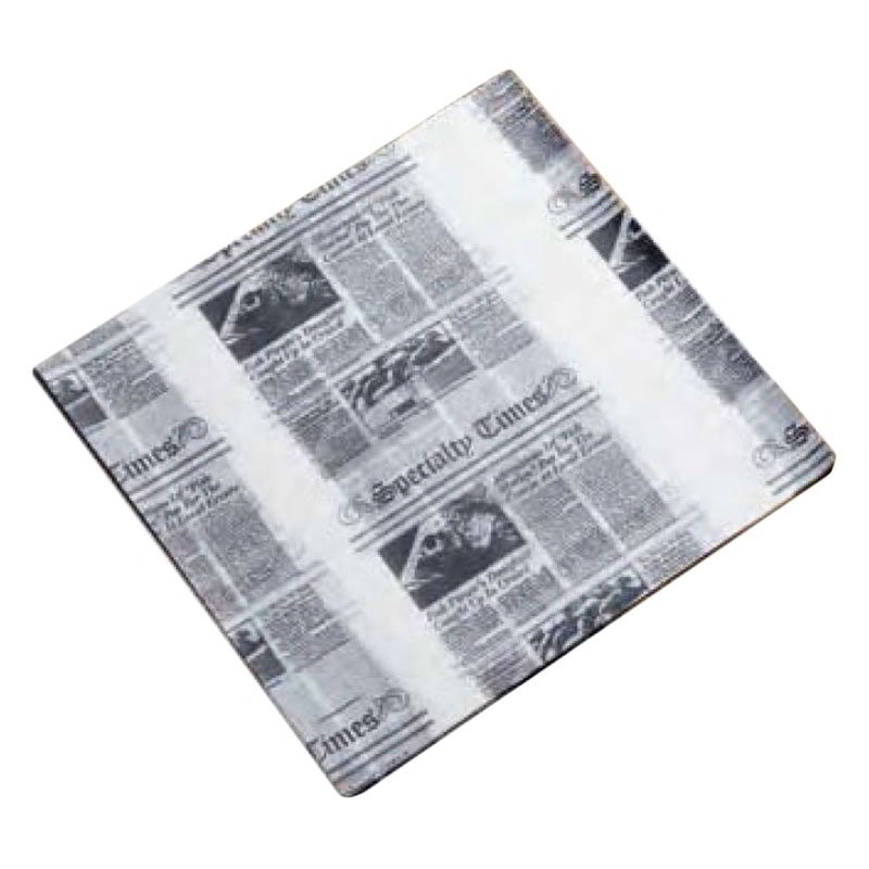 "American Metalcraft PPRN2121 Flat Wax Paper, 12x12"", Newsprint"