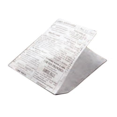 """American Metalcraft PPRN76 Wax Fry Paper Bags, 7x6"""", Bleached Newsprint"""