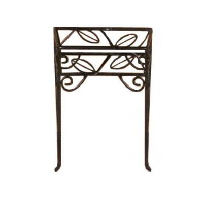 American Metalcraft PSL99 Contempo Pizza Stand, Square, Leaf Design, Black Wrought Iron