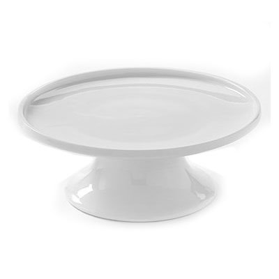 "American Metalcraft PSP8 8"" Round Serving Stand - White Porcelain"