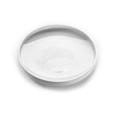 "American Metalcraft PSPL8 8"" Round Serving Platter - White Porcelain"