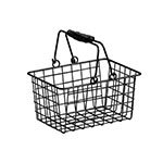 American Metalcraft RBHB975 Rectangular Basket w/ Double Handle, Wire/Black