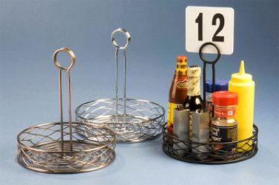 American Metalcraft RBNU37 Birdnest Condiment Rack, 7-3/4 in Dia., Center Handle W/ Slot, Copper Fi