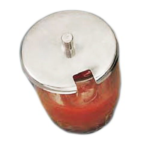 "American Metalcraft RD412 3.12"" Condiment Jar Cover w/ Knob, Stainless"