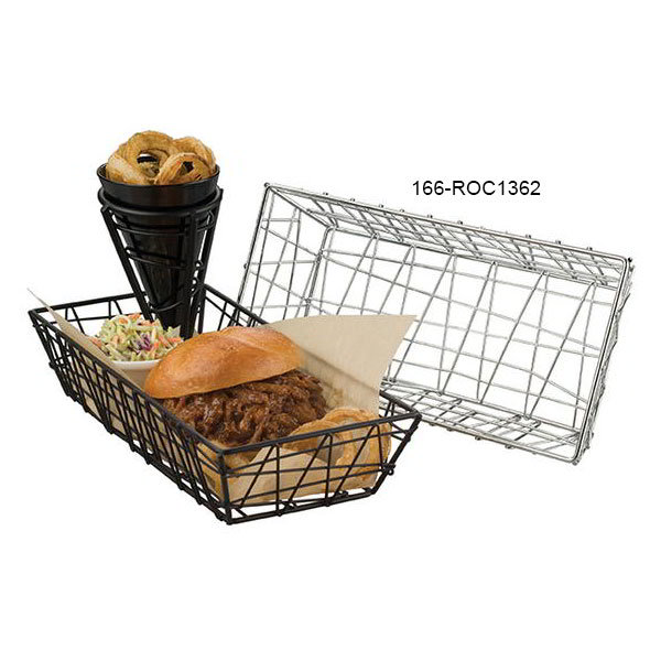 American Metalcraft ROC1362 Rectangular Zorro Basket, Chrome