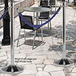 "American Metalcraft RSCLC 15"" Portable Barrier System w/ Post & Base, Chrome"