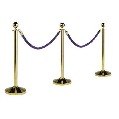 American Metalcraft RSCLG 15-in Portable Barrier System w/ Post & Base, Gold