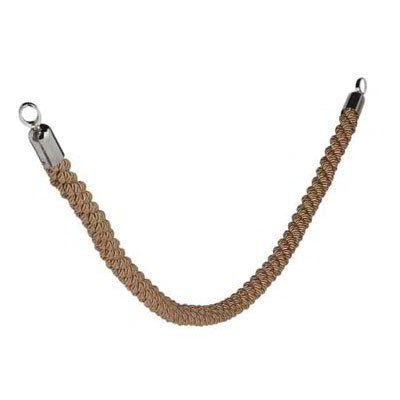 "American Metalcraft RSCLRPCHBR 2"" Braided Barrier System Rope w/ Chrome End, Bronze"