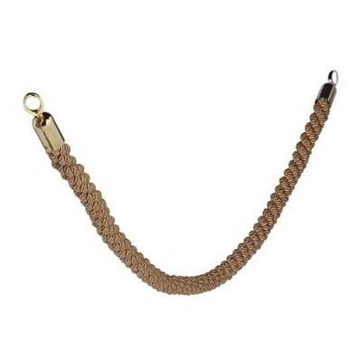 "American Metalcraft RSCLRPGOBR 2"" Braided Barrier System Rope w/ Gold End, Bronze"