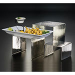 American Metalcraft RSH1 3-Piece Riser Set, Hammered/Stainless