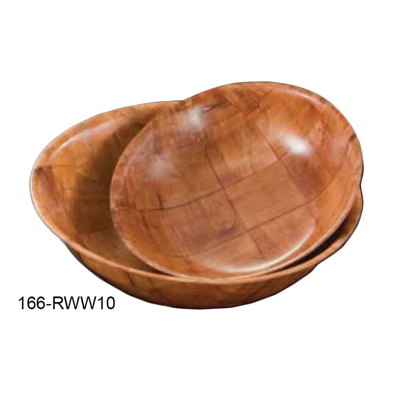 American Metalcraft RWW10 10-in Salad & Pasta Bowl, Keyaki Wood