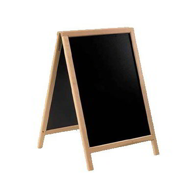 "American Metalcraft SBDB85 Medium Sandwich Board w/ Double Side, 22x34"", Wood"