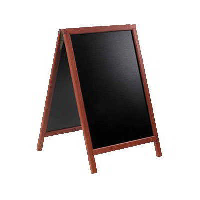 "American Metalcraft SBDM85 Medium Sandwich Board w/ Double Side, 22x34"", Mahogany"