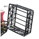 American Metalcraft SBL71 7-in Square Basket w/ Leaf Design, Wrought Iron