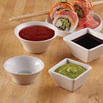 American Metalcraft SBR11 Round Ribbed Sauce Dish w/ 1.69-oz Capacity, Porcelain