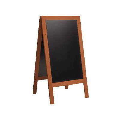 "American Metalcraft SBSM135 Large Sandwich Board w/ Double Side, 30x54"", Mahogany"