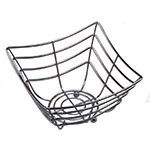 "American Metalcraft SCB480 8"" Square Time Continuum Basket w/ Web Pattern & Balled Tip, Chrome"