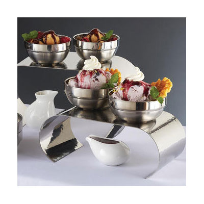 American Metalcraft SDWB45 10-oz Stackable Bowl - Mirror/Satin-Finish Stainless