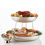 "American Metalcraft SEA14 13.75"" Round Seafood Tray, Aluminum"