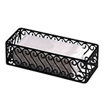"American Metalcraft SFBB5312 Basket w/ Scroll Design, 12x5"", Wrought Iron/Black"