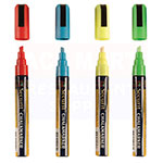 American Metalcraft SMA510V4 Small Tip Chalk Marker w/ 4-Assorted Colors, Smear Proof