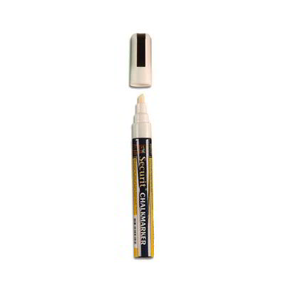 American Metalcraft SMA510V4WT Small Tip Chalk Marker, Smear Proof, White