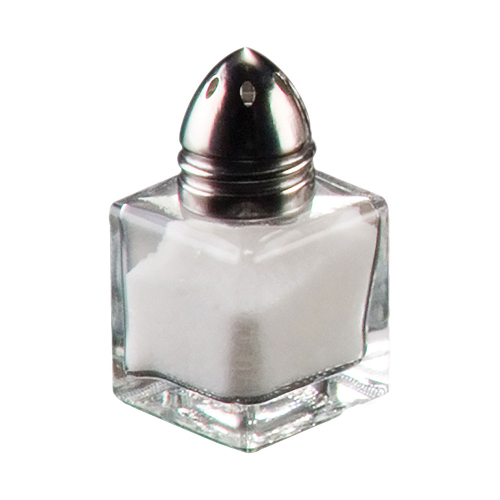 American Metalcraft SP125 Petite Salt/Pepper Shaker w/ .5-oz Capacity, Glass, Stainless Top