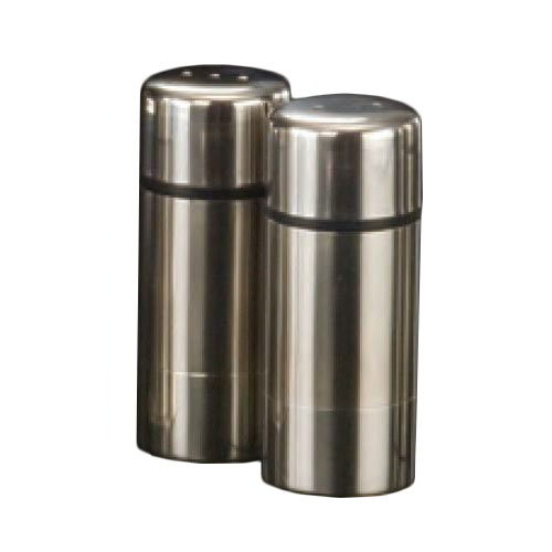 "American Metalcraft SP29 3"" Salt & Pepper Shaker Set w/ Metal Lid, Round"