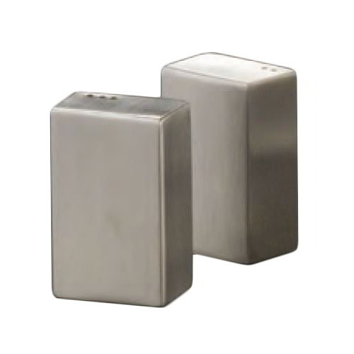 American Metalcraft SP4 2.5-in Rectangular Salt & Pepper Shaker Set, Stainless