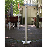American Metalcraft SPRV1 Pole Cigarette Receptacle - Outdoor Rated