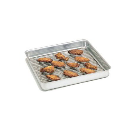 "American Metalcraft SQ1010 Straight Sided Deep Dish Pan w/ Seamless Corners, 1"" Deep, Aluminum"