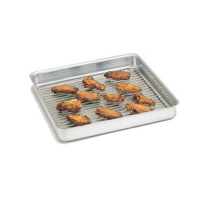 "American Metalcraft SQ1210 Straight Sided Deep Dish Pan, 12x12"", 1"" Deep, Aluminum"