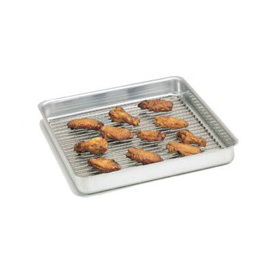 "American Metalcraft SQ1615 Straight Sided Deep Dish Pan, 16x16"", 1.5"" Deep, Aluminum"