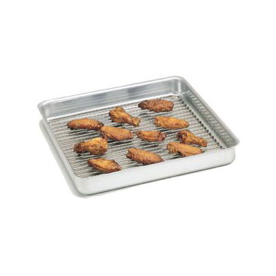 "American Metalcraft SQ1620 Straight Sided Deep Dish Pan, 16x16"", 2"" Deep, Aluminum"