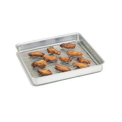 "American Metalcraft SQ610 Straight Sided Deep Dish Pan, 6x6"", 1"" Deep, Aluminum"