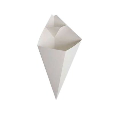 American Metalcraft SQFBCN10 Square Fry cone w/ 10-oz Capacity & Foldout Pocket, Cardboard