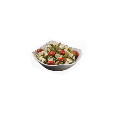 "American Metalcraft SQVL712 12"" Bowl w/ 37-oz Capacity, Ceramic/White"