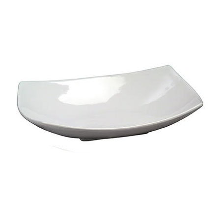 "American Metalcraft SQVL914 14"" Bowl w/ 48-oz Capacity, Ceramic/White"