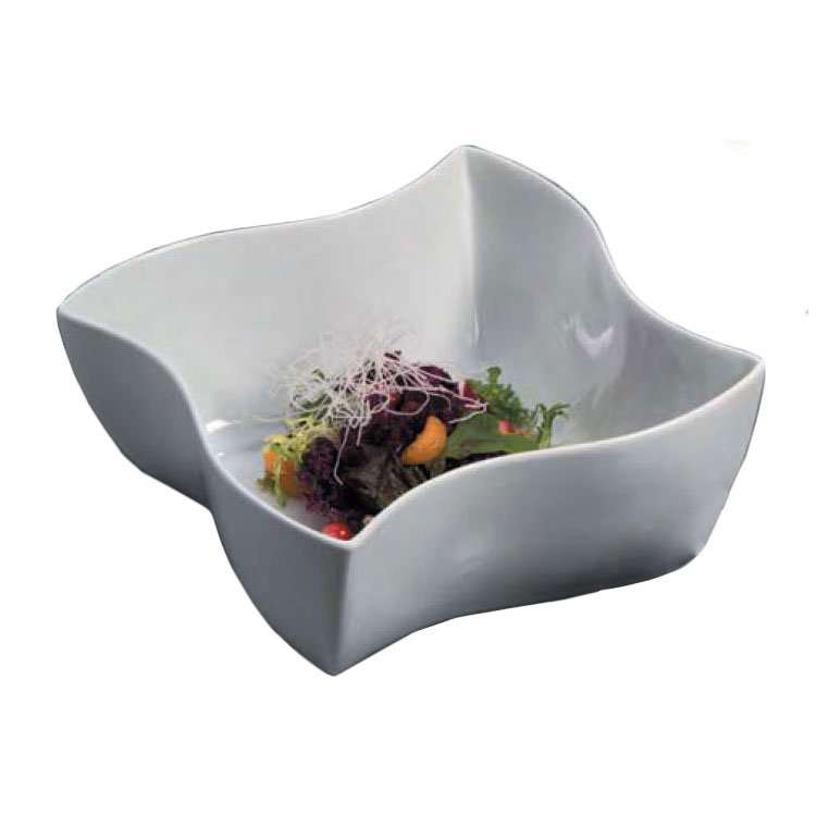 American Metalcraft SQVY10 10.5-in Bowl w/ 152-oz Capacity, Porcelain/White